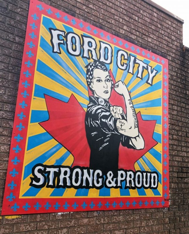 A mural in Windsor's Ford City neighbourhood