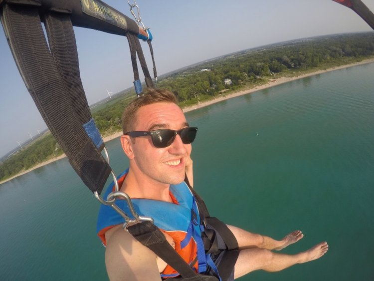 Parasailing in Grand Bend, Ontario