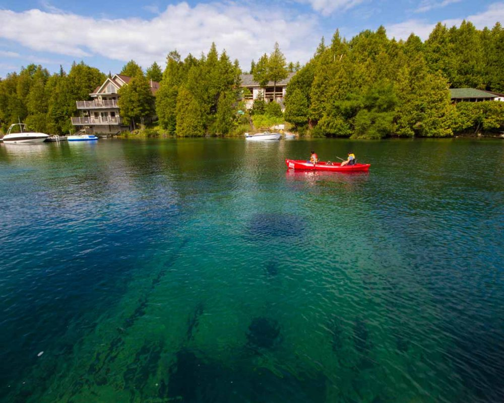Tobermory shipwrecks on a staycation ideas for Ontario