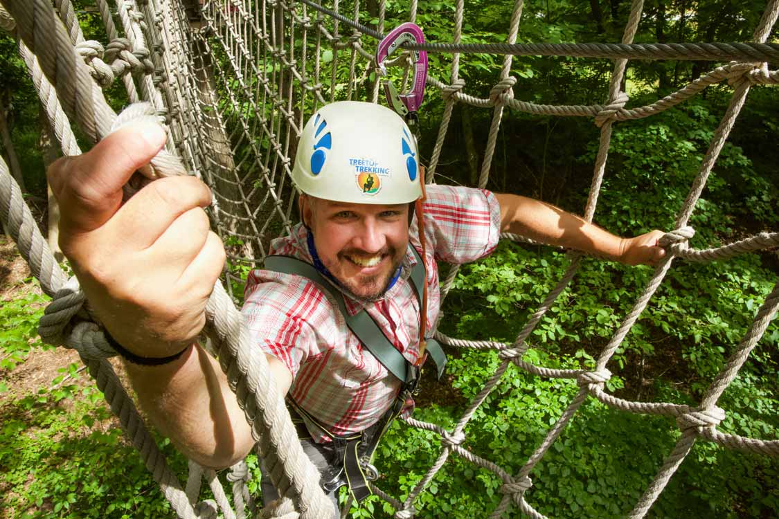 Kevin Wagar on a Toronto treetop walk