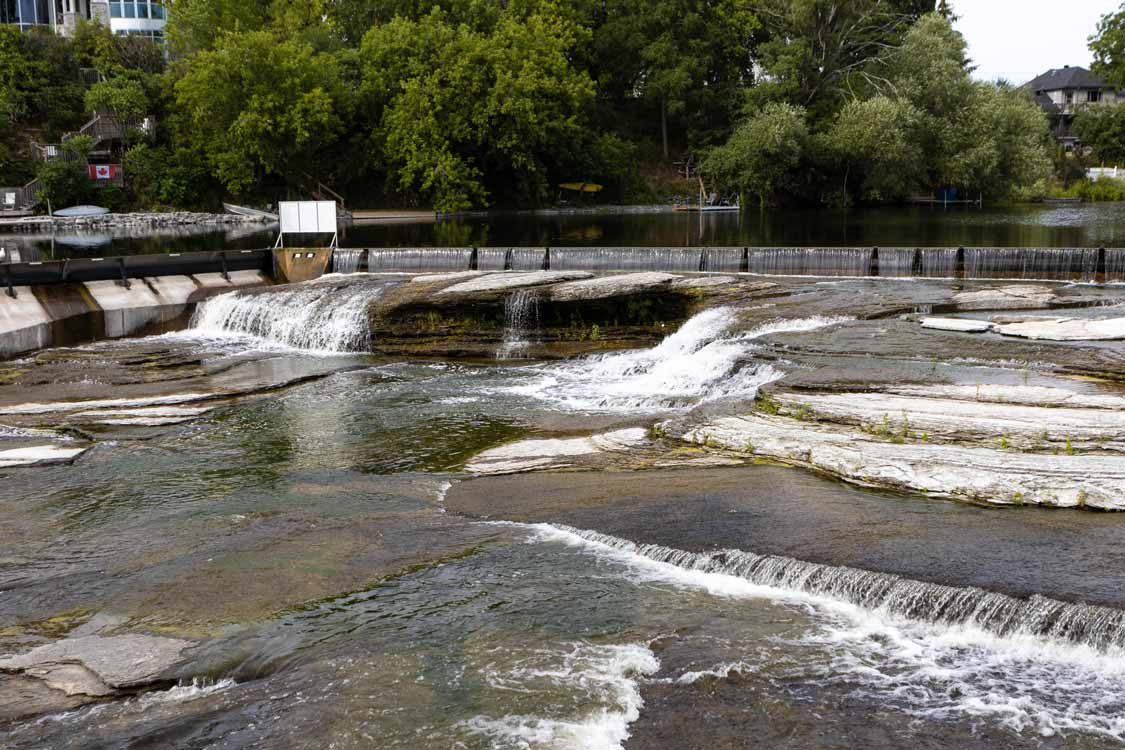 Waterfalls along the Almonte Riverwalk