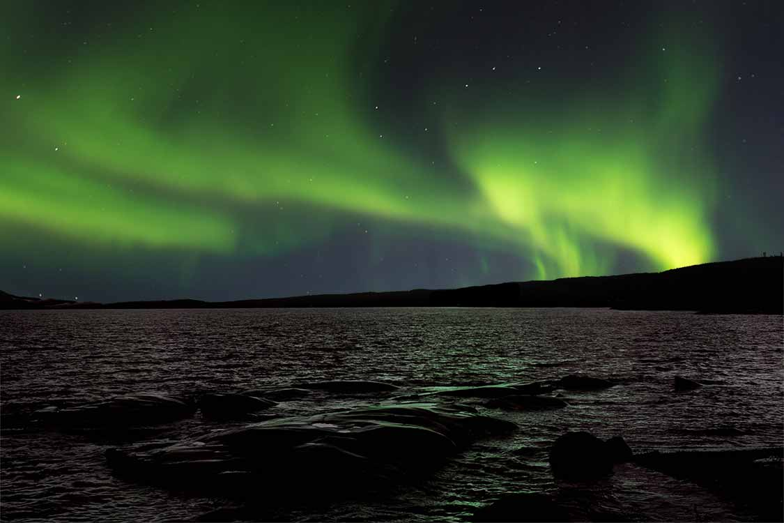 Northern Lights over Lake Superior in Ontario