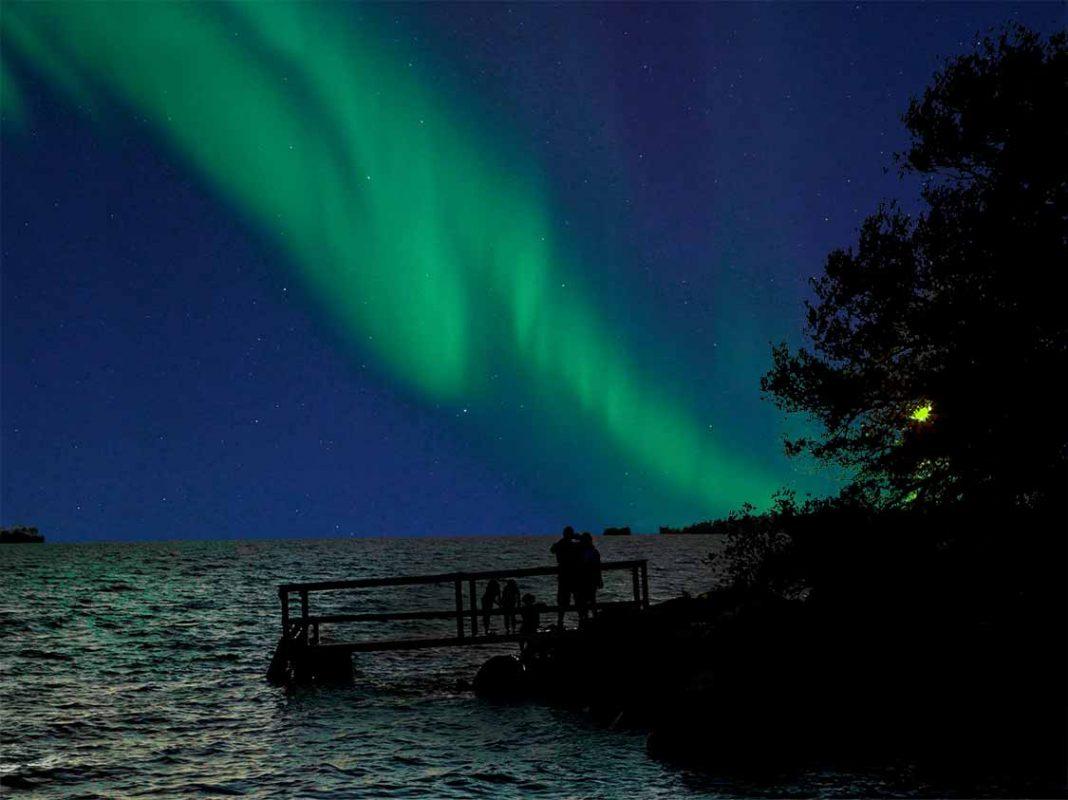 Ontario Northern Lights on Manitoulin Island
