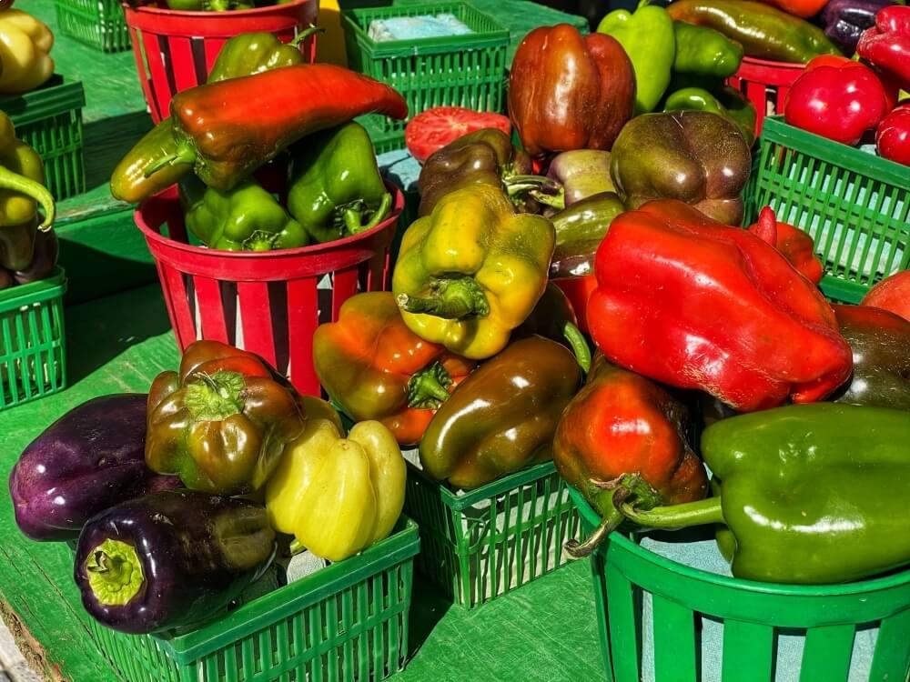 Fresh local Ontario vegetables at the Ottawa Farmers' Market.