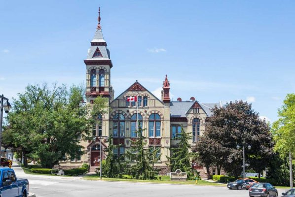 Classic architecture of the Perth County Courthouse