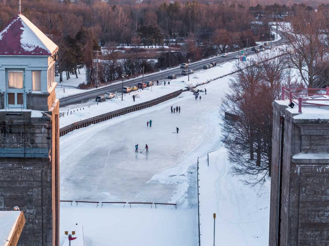 Liftlock Skating Trail in Peterborough Ontario