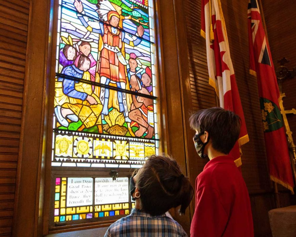 Stained Glass Windows of the Mohawk Chapel in Six Nations