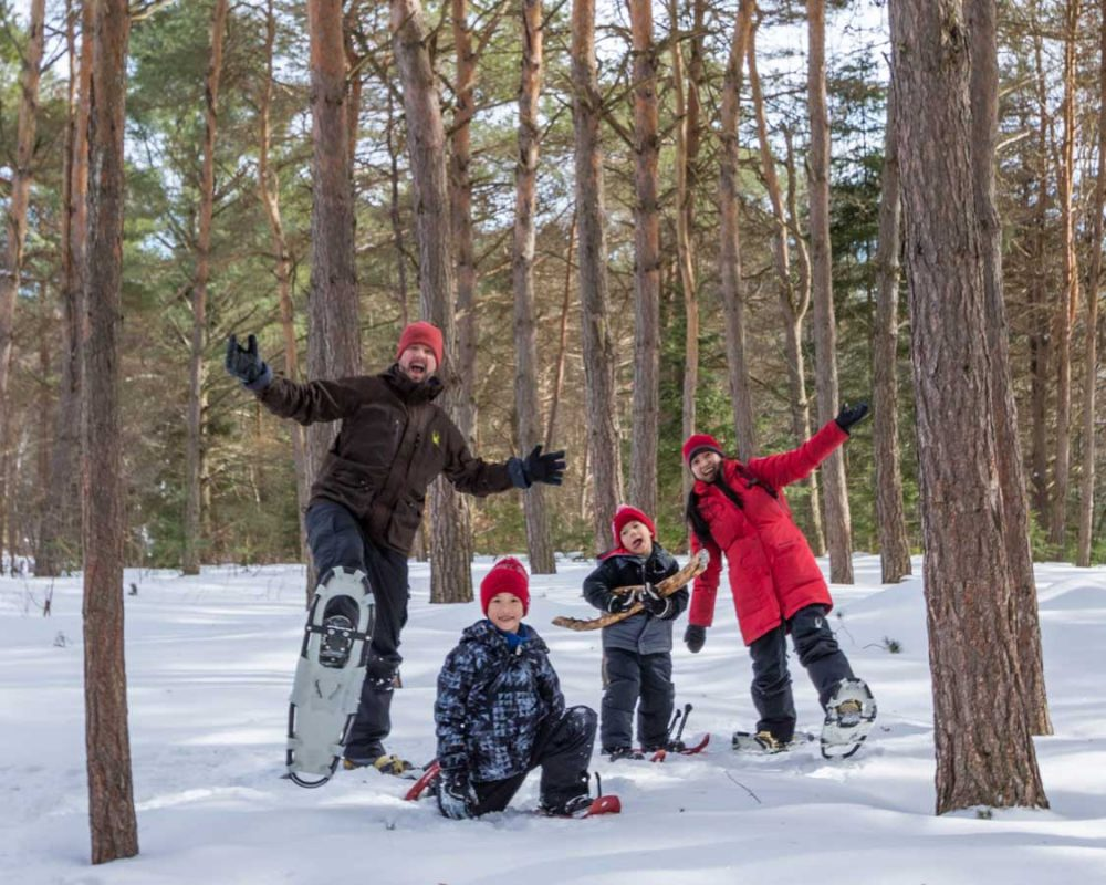 Snowshoeing in Ontario for the whole family