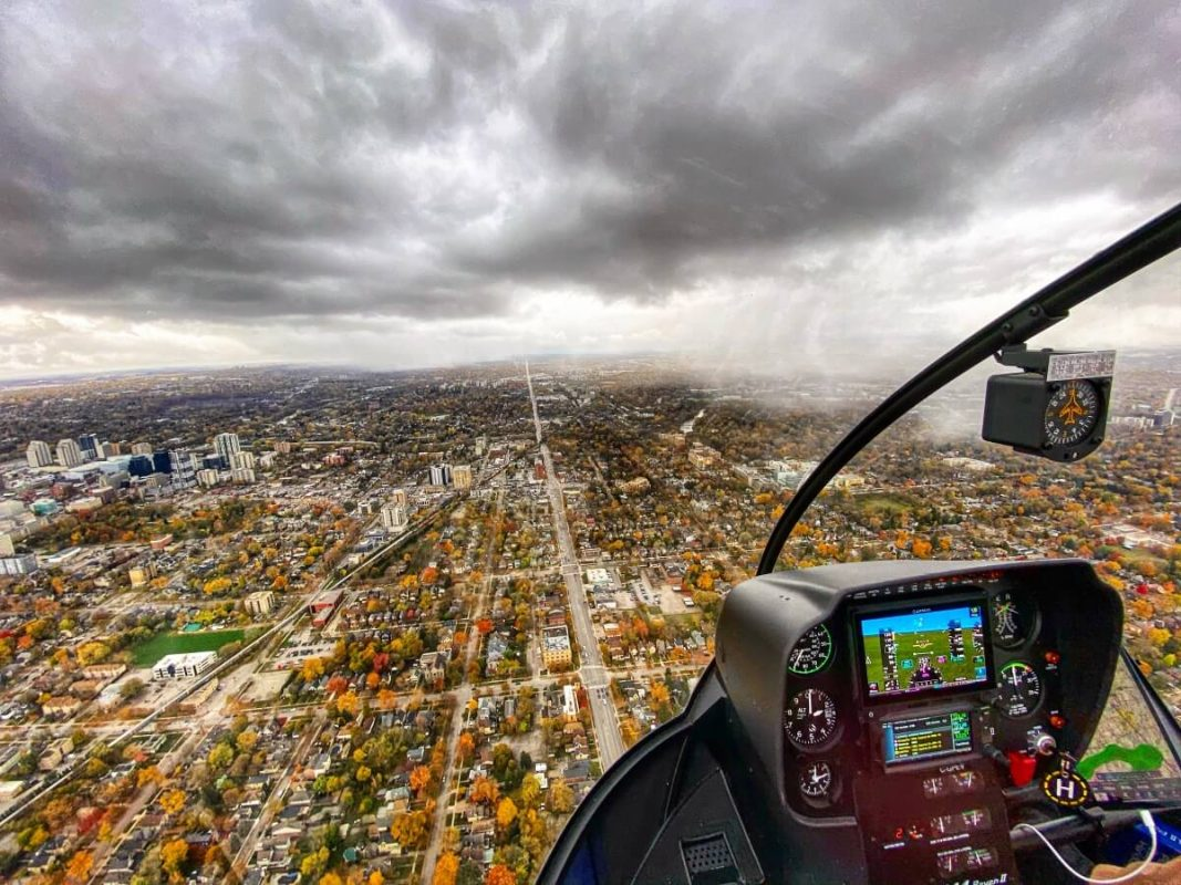 Helicopter ride in London, Ontario
