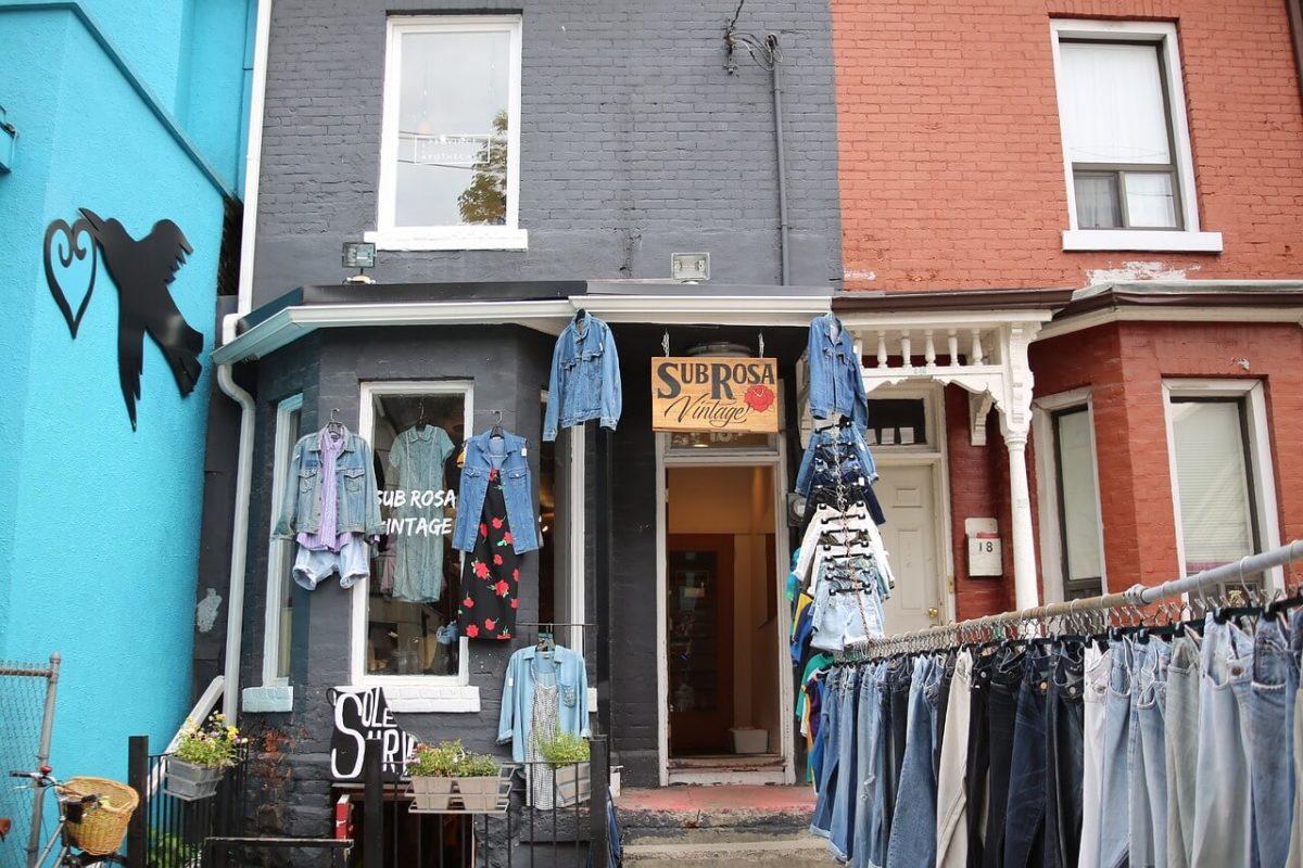 A vintage clothing store in Kensington Market