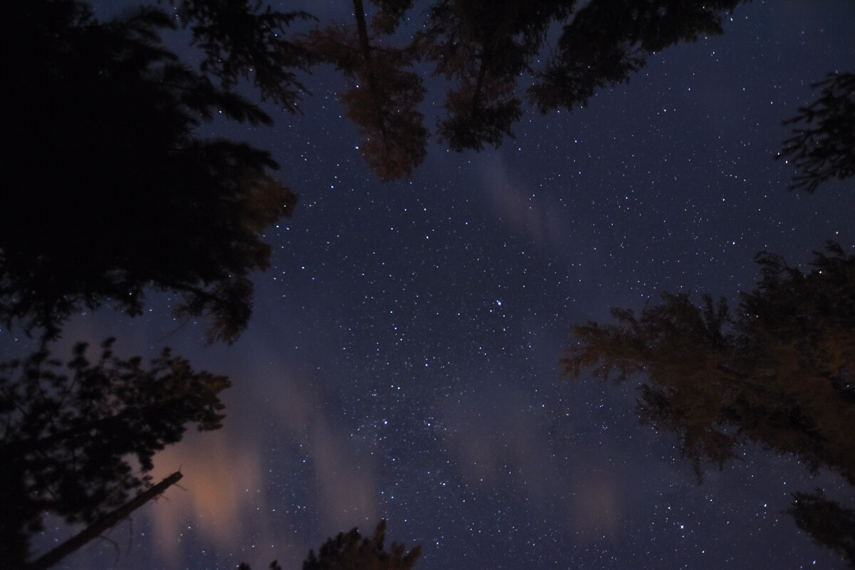 A starry night at Quetico Provincial Park