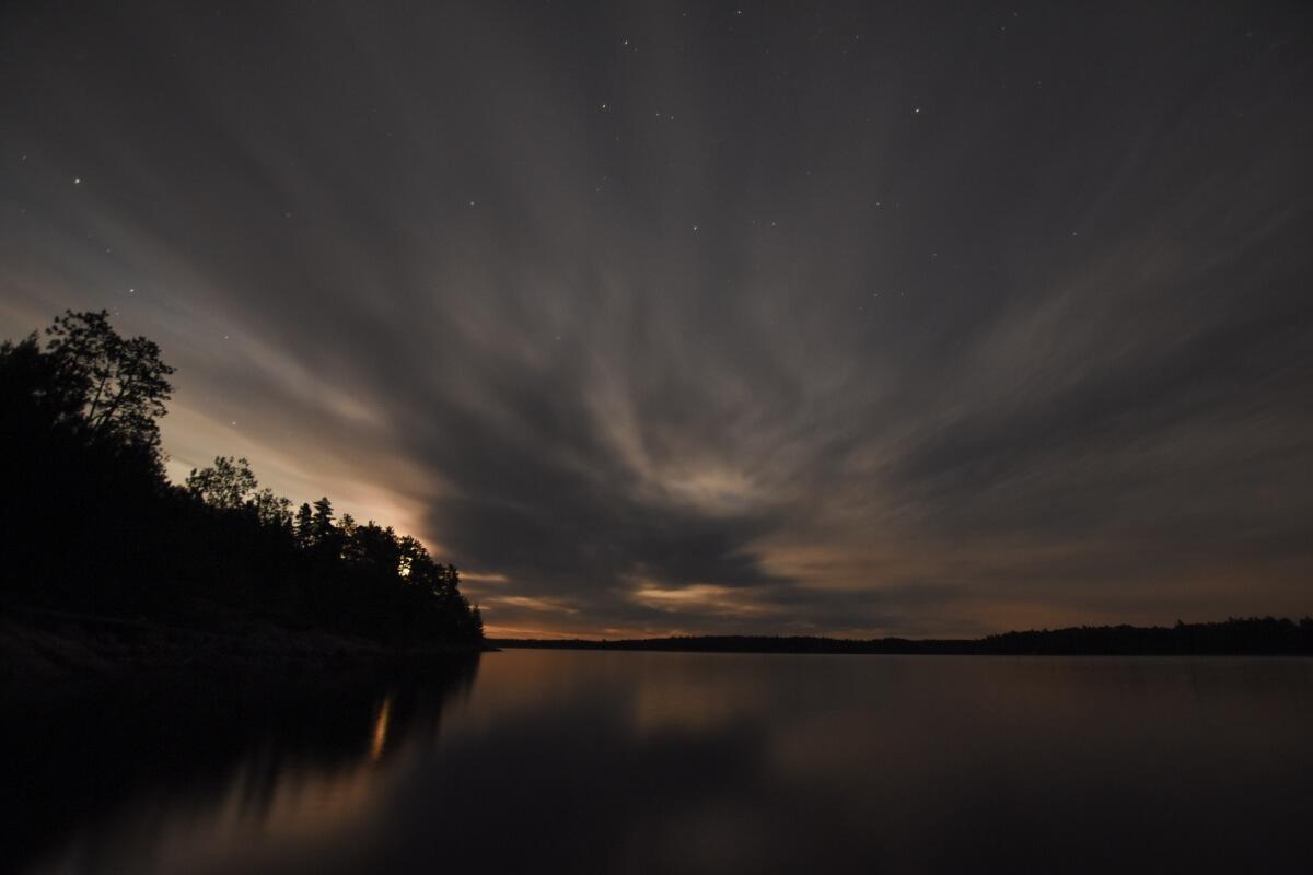 Cloudy night at Quetico Provincial Park