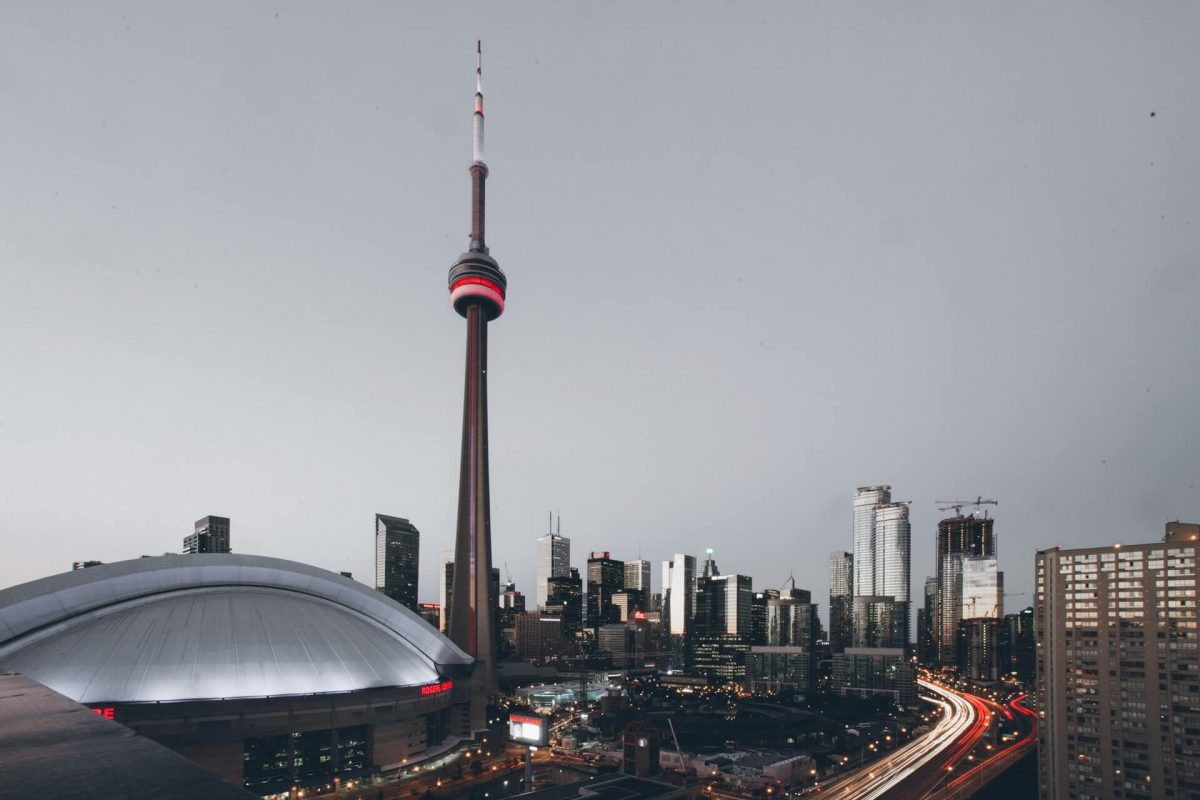 The Rogers Centre  (SkyDome) & the CN Tower