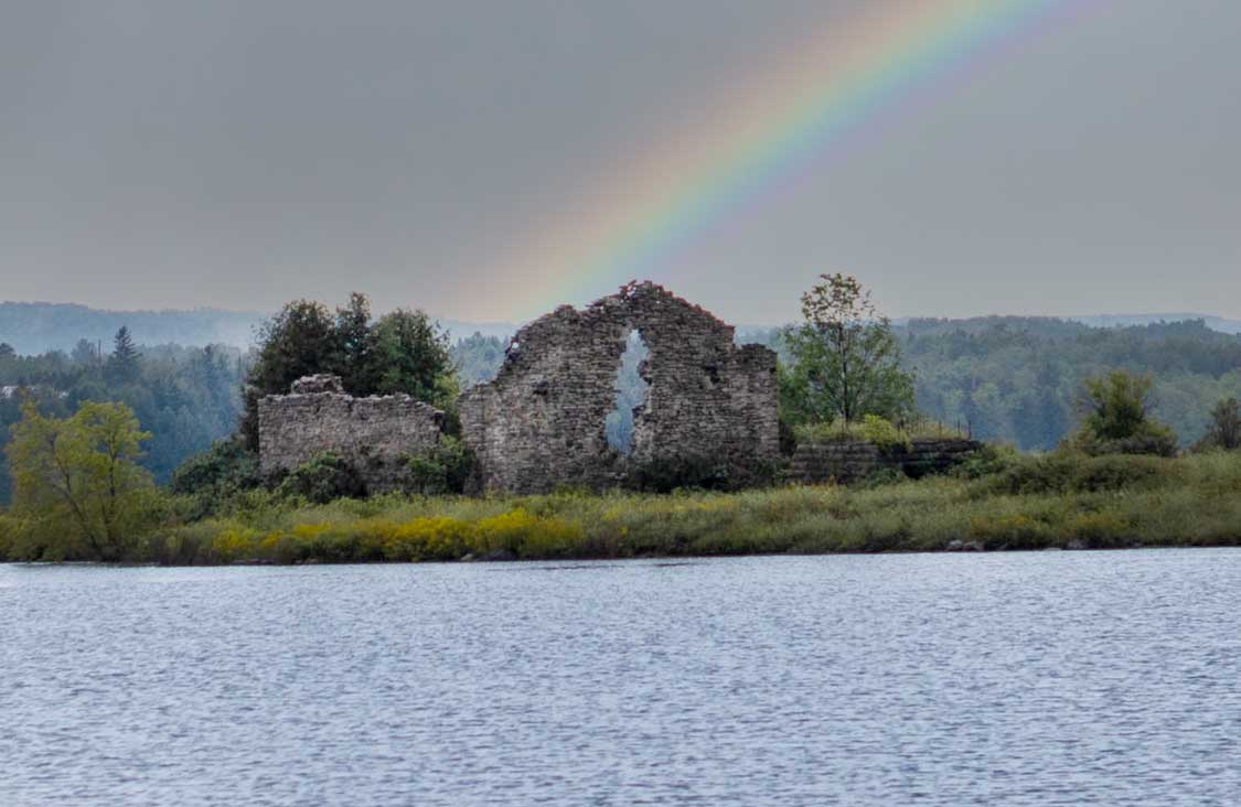 Rainbow over Picnic Island Mill
