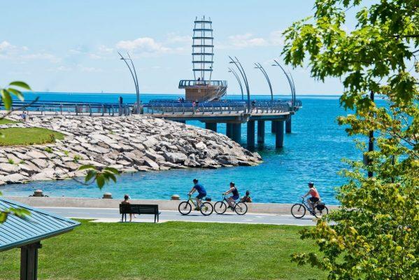 Spencer Smith Park and Pier in Burlington, Ontario