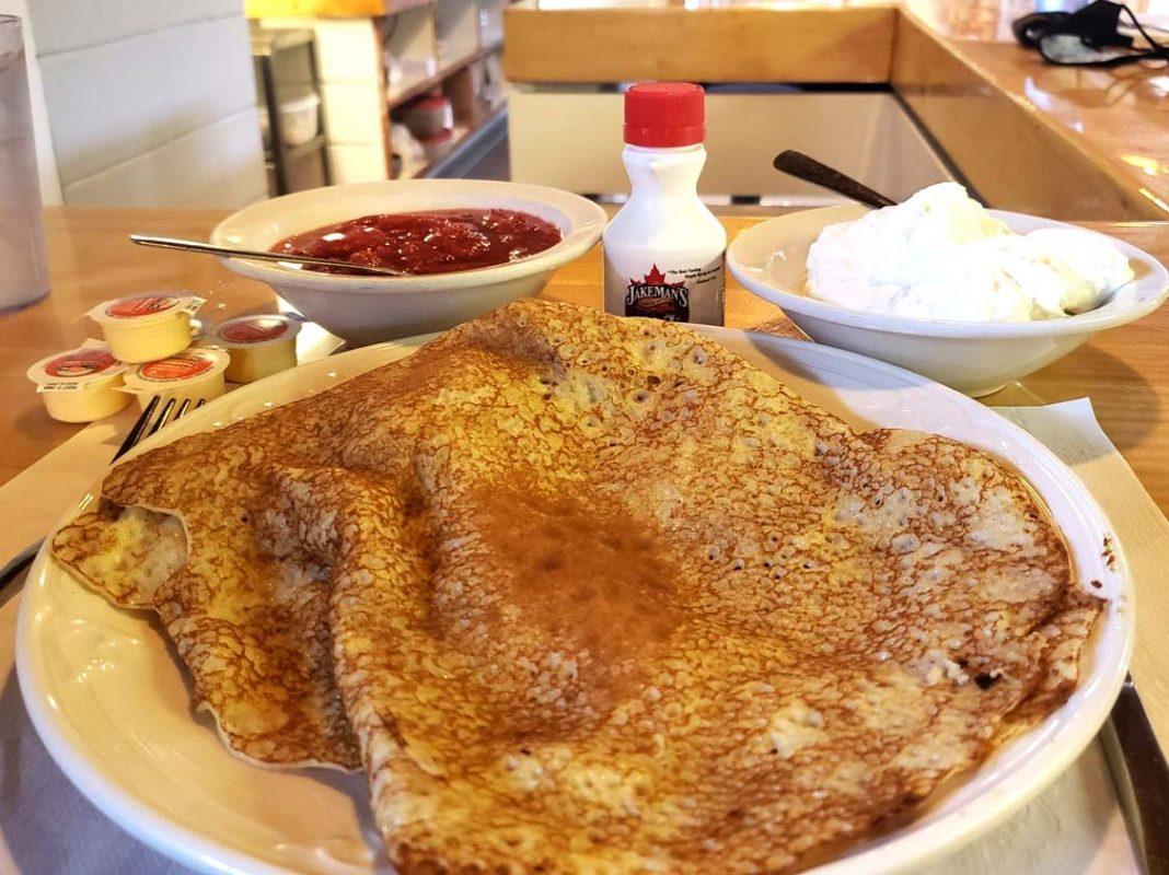 Finnish pancakes at Kangas Sauna in Thunder Bay
