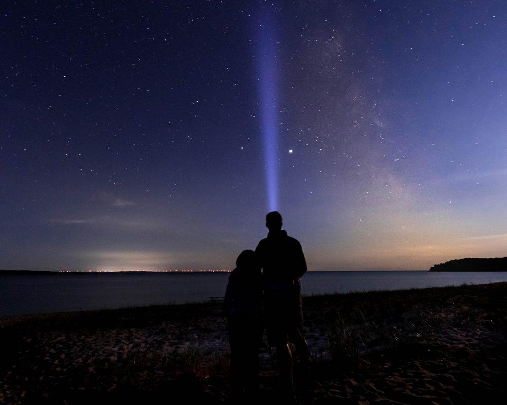 Night skies at Pancake Bay Provincial Park