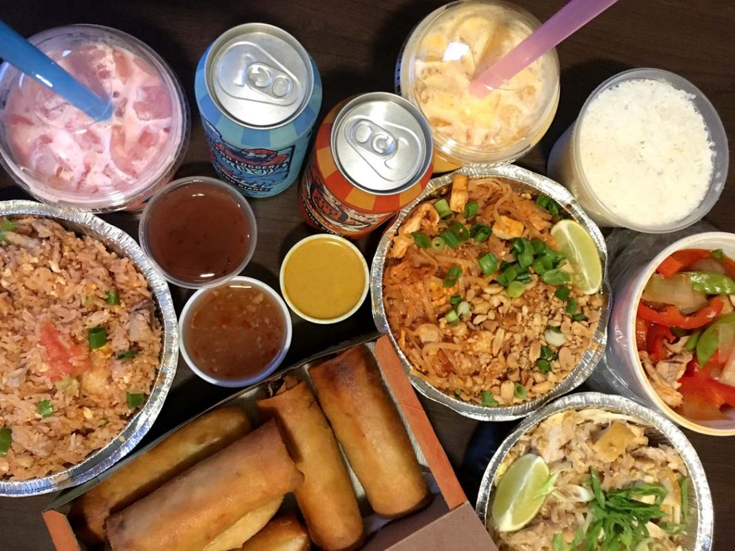 Takeout from the Thai Kitchen restaurant in Thunder Bay