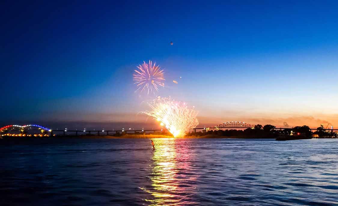 Indigenous Day fireworks in Sault Ste Marie, Ontario