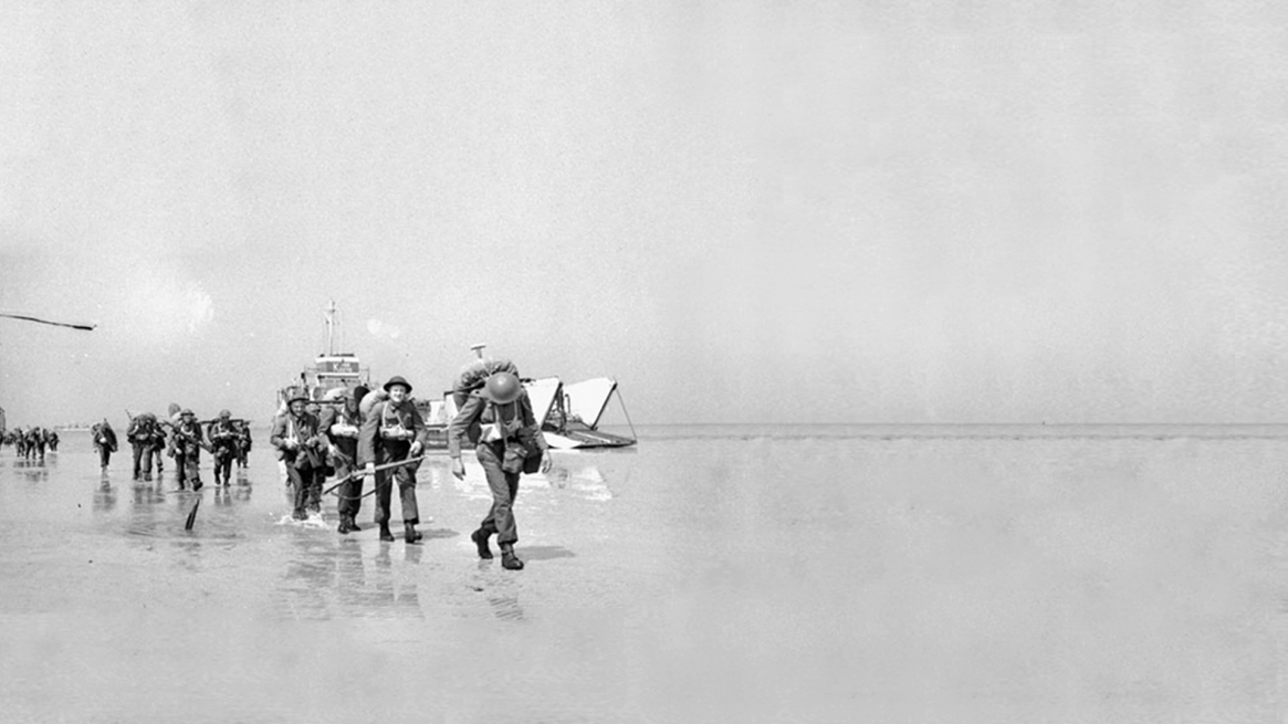 Canadians arriving on Juno Beach after the initial onslaught.