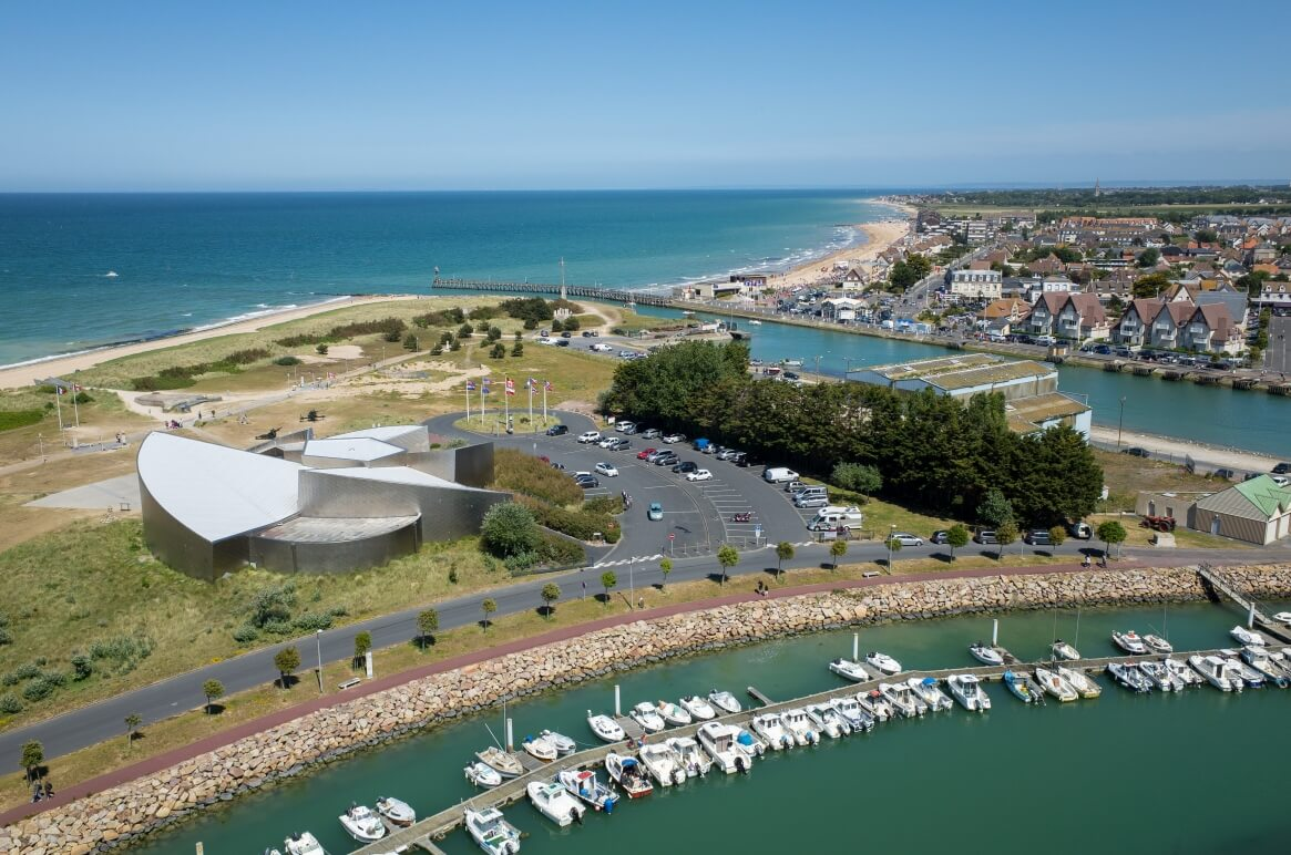 An aerial view of the Juno Beach Centre